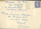 Plic circulat Anglia - Bucuresti,  1950