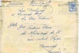 "Plic circulat Anglia - Bucuresti-Militari, 1951, stampila ""Blood donors are still urgent needed"""