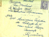 Plic circulat Anglia - Bucuresti   1950, stamp. The international Stamp Exhibition Grosvenor House London May 6-13