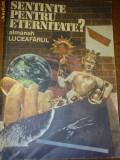 Almanah Luceafarul- Sentinte pentru eternitate?