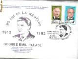 Plic Special 80 de ani de la nastere, 1912-1992, George Palade, laureat al premiului Nobel, Ploiesti 19.11.92