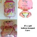Buchet baloane botez  Fetita sau Baietel