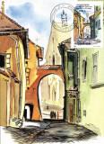 CM Sighisoara-Arcada casei Vlad Dracul spre Biserica Manastirii