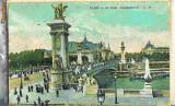 Carte postala Ilustrata Paris, podul Alexandru al III-lea