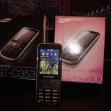 Samsung gt-c3530nou - Telefon Samsung, Gri, Orange, Clasic, 480x854 pixeli, 256K