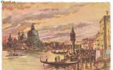 carte postala-VENEZIA-23 Tramonto sul Canal Grande