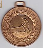 Medalie-CUPA TINERETULUI DE LA SATE 1971 OINA locul III