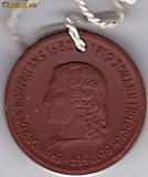 Medalie din portelan de Meissen,alchimistul Johann Friedrich Bottger