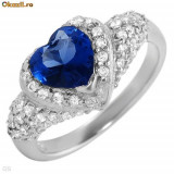 Nice Heart Ring/Inel With 3.80ctw CZ Crafted in 925 S.Silver( Marimi: 6;  8US)