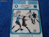 Program ROMANIA - GRECIA preliminarii JO `88