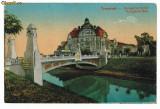 157 - TIMISOARA, Bega, Tramway on the Bridge - old postcard - used - 1917, Circulata, Printata