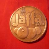 Placheta - Oras Jaffa -Israel, bronz, d= 6 cm