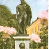 CP208-22 Baile Herculane -Statuia lui Hercules -carte postala circulata 1984 -starea care se vede