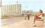 CP208-08 Mamaia -in lungul promenadei, hotelurile Sirena, Doina, Flora -RPR(ONT Carpati) -carte postala necirculata -starea care se vede