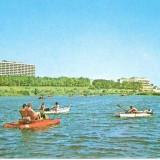 CP208-67 Eforie Nord: Vedere de pe lac -carte postala circulata 1981-starea care se vede