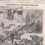 Revista Gazeta Ilustrata : groaznicul prapad din 1914, primul razboi mondial (1914) - Fotografie veche