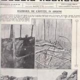 Revista Gazeta Ilustrata : razboiul de cartite in Argoni, primul razboi mondial (1915) - Fotografie veche