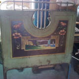 PAT DE TABLA PICTAT-1., Paturi si seturi dormitor, 1900 - 1949