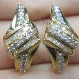 CERCEI AUR SI DIAMANTE- 0.50 CT - Cercei cu diamante