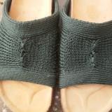 Papuci tricotati - Papuci dama, Khaki, Marime: 36