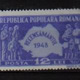 RRR RECENSAMINTUL 1948 LP. 226 MNH - Timbre Romania, Nestampilat