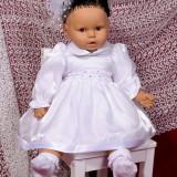 Rochie Botez organza alba