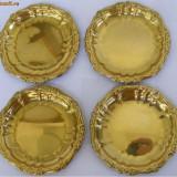 4 farfurii din metal - Metal/Fonta