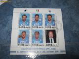 Bloc timbre fotbal samdoria italia 1991