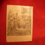 Carte postala cu timbru si stamp. spec. Peter Rosegger 1943