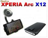 Suport parbriz Sony Ericsson Xperia X12 (auto masina) + husa