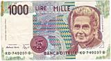 Italia  bancnota 1000 lire 1990