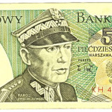 Polonia bancnota 50 ZLOTYCH 1988 generalul Swierczewski