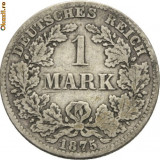 WILHELM I 1871---1888. 1 MARK ARGINT 1875 B - Moneda Medievala, Europa