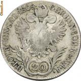FRANCISC II 1792---1806. 20 KREUZER ARGINT. 1805 E. ALBA IULIA - Moneda Medievala, Europa