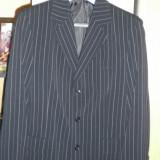 Costum barbati marimea 52 sacou si marimea 42 pantaloni, 3 nasturi, Normal, Fuchsia