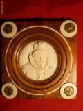 Placheta ERASMUS -1824 - lemn , fildes si bronz