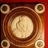 Placheta ERASMUS -1824 - lemn, fildes si bronz