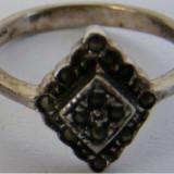 Inel din argint cu markasite - de colectie