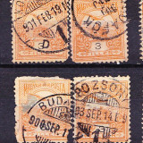 Timbre Ungaria 1900 - 1904 Cu stampile din Transilvania