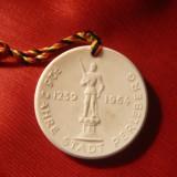 Medalie portelan Maissen- Aniversare oras Perleberg -1964