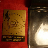 OLIMPIADA - Placheta in limba Maghiara, alama