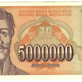 Serbia-Iugoslavia bancnota 5000000 Dinari 1993 XF+