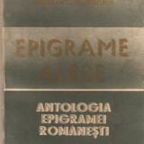 Antologia epigramei romanesti*Epigrame alese