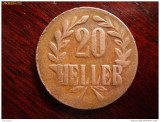 Bnk mnd africa de est germana - tanganika - 20 heller 1916 - cupru