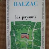Balzac - Les Paysans (in limba franceza) - Carte in franceza