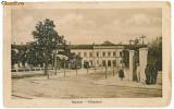 2135 - SIBIU, Gara, tramvai - old postcard- used - 1918
