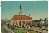 Carte postala-CLUJ-Catedrala Sf Mihail, Circulata, Printata