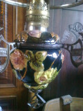 LAMPA DE TAVAN DIN MAJOLICA FOARTE VECHE.