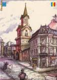 Ilustrata Bucuresti, Baratia, grafica D. Rosu, Necirculata, Printata