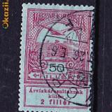 Timbre Ungaria 1919/A4 Vulturul si Coroana, Stampilat